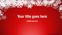 Winter Snow Red Widescreen PPT PowerPoint Template Background