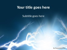 Electric Shock PPT PowerPoint Template Background