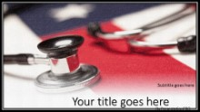 American Healthcare Widescreen PPT PowerPoint Template Background
