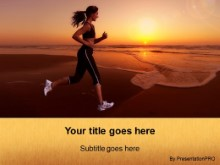 Download beach jog PowerPoint Template and other software plugins for Microsoft PowerPoint