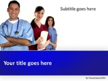 Medical Team Staff PPT PowerPoint Template Background