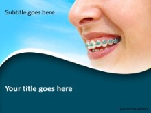 Orthodontic Braces PPT PowerPoint Template Background