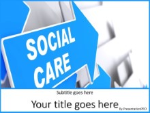 Social Care PPT PowerPoint Template Background