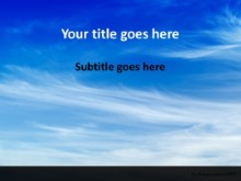 Beautiful Blue Sky PPT PowerPoint Template Background