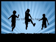 Children Silhouettes PPT PowerPoint Template Background