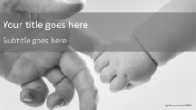 Infant Grip Widescreen PPT PowerPoint Template Background