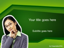 Download asian green PowerPoint Template and other software plugins for Microsoft PowerPoint