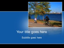 Download bike path PowerPoint Template and other software plugins for Microsoft PowerPoint