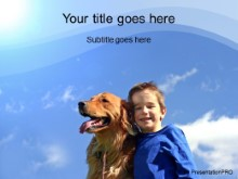 Download boy with dog PowerPoint Template and other software plugins for Microsoft PowerPoint