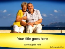 Download elderly couple vacationing PowerPoint Template and other software plugins for Microsoft PowerPoint