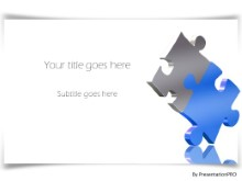 Puzzle Border Shadow PPT PowerPoint Template Background