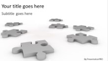 Scattered Pieces Widescreen PPT PowerPoint Template Background