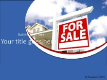 Home For Sale PPT PowerPoint Template Background