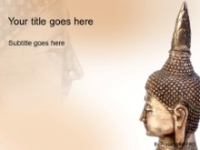Download buddhist sculpture PowerPoint Template and other software plugins for Microsoft PowerPoint