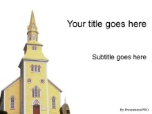 Download yellow church PowerPoint Template and other software plugins for Microsoft PowerPoint