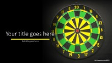 Dart Board GreenYellow Widescreen