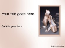 Download ballet shoes PowerPoint Template and other software plugins for Microsoft PowerPoint