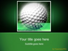 Golf 0023 PPT PowerPoint Template Background