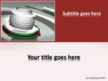 Golf 0906 PPT PowerPoint Template Background