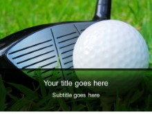 Download large golfball club PowerPoint Template and other software plugins for Microsoft PowerPoint