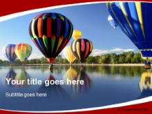 Download leisure hot air balloon PowerPoint Template and other software plugins for Microsoft PowerPoint