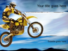 Download motorcross yellow biker PowerPoint Template and other software plugins for Microsoft PowerPoint