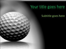 Rolling Golf Balls PPT PowerPoint Template Background