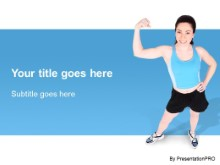 Download workout girl02 PowerPoint Template and other software plugins for Microsoft PowerPoint