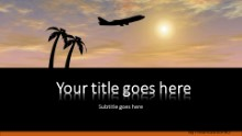 Vacation Flight Widescreen PPT PowerPoint Template Background