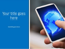 Mobile World PPT PowerPoint Template Background