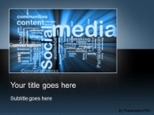 Download social media blue PowerPoint Template and other software plugins for Microsoft PowerPoint