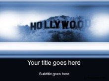 Download hollywood blue PowerPoint Template and other software plugins for Microsoft PowerPoint