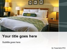 Hotel Bell 02 PowerPoint template background in Tourism