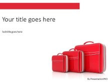 Red Suitcase PPT PowerPoint Template Background