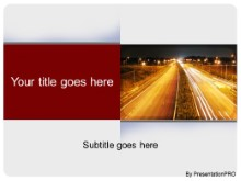 Download night shot expressway PowerPoint Template and other software plugins for Microsoft PowerPoint