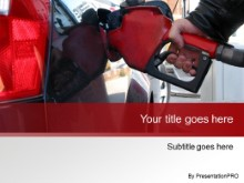 Download pumping gas red PowerPoint Template and other software plugins for Microsoft PowerPoint
