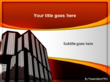 Download building orange PowerPoint Template and other software plugins for Microsoft PowerPoint