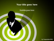 Download bullseye green PowerPoint Template and other software plugins for Microsoft PowerPoint