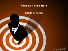 Download bullseye orange PowerPoint Template and other software plugins for Microsoft PowerPoint
