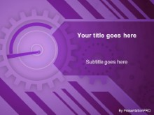 Download gears purple PowerPoint Template and other software plugins for Microsoft PowerPoint