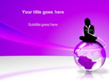 Download globe purple PowerPoint Template and other software plugins for Microsoft PowerPoint