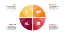 PowerPoint Infographic - Circle Quadrants
