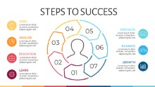 PowerPoint Infographic - Steps 4