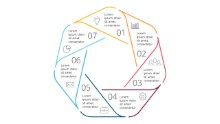 PowerPoint Infographic - Steps Heptagon 32