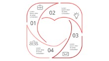 PowerPoint Infographic - Square Heart 67