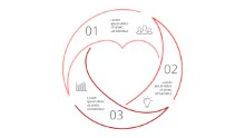 PowerPoint Infographic - Circle Heart 68