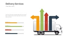 PowerPoint Infographic - Delivery Truck Infographic Layout