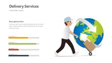 PowerPoint Infographic - Delivery World Wide Infographic Layout