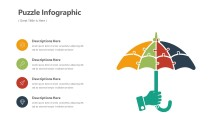 PowerPoint Infographic - Umbrella Puzzle Infographic Layout