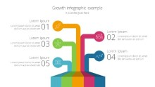 Growth lines Infographic